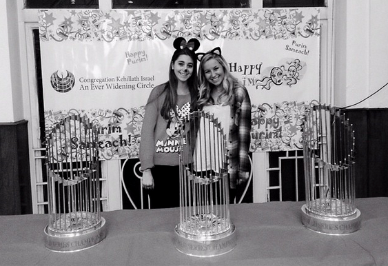 My sister and I hanging out with a couple World Series trophies... Boston Stronger than ever!