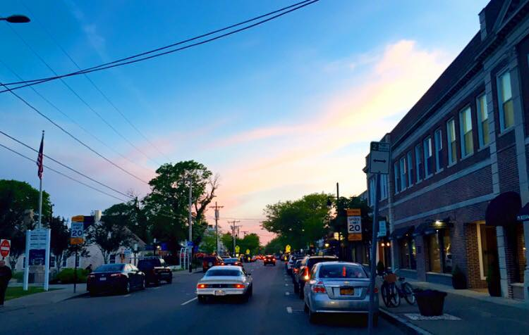 Sunset on Main Street in Hyannis