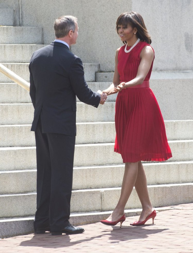 wearing-michael-kors-dress-bill-signing-maryland-april